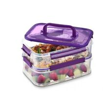 2-Animal Plastic Lunch Box Food Storage Containers Bento Boxes For School Office