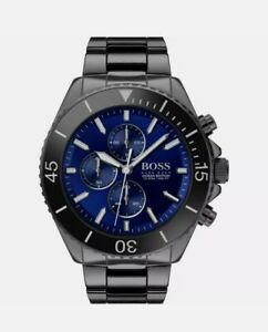 HUGO BOSS HB 1513743 MENS BLACK OCEAN EDITION WATCH NEW WITH WARRANTY