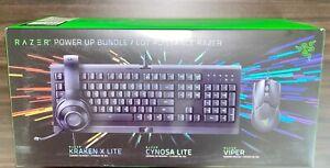 Razer Power Up Gaming Bundle Cynosa Lite + Kraken X Lite + Viper Mouse NEW