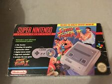 Super Nintendo SNES Street Fighter 2 Boxed Console + 22 Games - Rare SNES Games