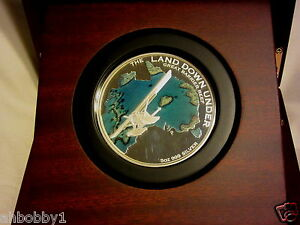 THE LAND DOWN UNDER – GREAT BARRIER REEF 2014 5OZ SILVER (400 Mint) Treasure Map