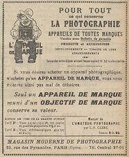 Z9564 Magasin Moderne de Photographie -  Pubblicità d'epoca - 1921 Old advert