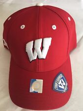 Wisconsin Badgers BIG Ten Baseball Hat - Adult Top of the World Cap - NWT