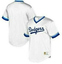 Mitchell & Ness Los Angeles Dodgers Baseball Jersey New Mens Sizes MSRP $90