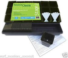 36 Nursery Pots KIT w/ 2 Drip Pans 10 Labels & Instruction Coconut Oasis STAGE 2