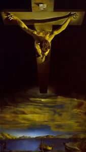 """SALVADOR DALI Surrealism Poster or Canvas Print """"Christ of St.John of the Cross"""""""