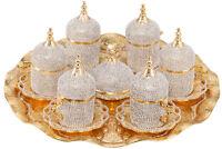 27 Pc De Turquía Griego Árabe Café Espresso Platillo Copa Swarovski Juego