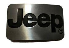 SVR2 JEEP Logo 4x4 Belt Buckle Wrangler Cherokee commander gift black and steel