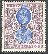 Sierra Leone 1912 blue/dull-purple £2 mint SG129