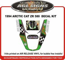 1994 ARCTIC CAT ZR 580 Reproduction Decal Kit   graphic stickers