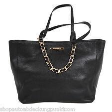 Michael Kors Damen Handtasche Shopper Tragetasche Bag Handbag HARPER Leder Black