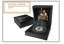 TOM MITCHELL HAWTHORN 2018 BROWNLOW MEDAL REPLICA IN BOX  - OFFICIAL AFL