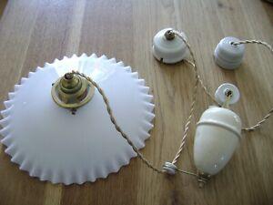 ancienne lampe, rare ancienne lampe suspension monte et baisse de ferme 1940.top