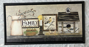 Kitchen Wall Plaque Picture Country Farmhouse FAMILY No. 1,Birdhouse, Bird, Wel
