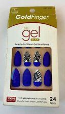 Kiss Gold Finger Gel Glam Ready to Wear Gel Manicure 24 Nails GF78 DistressedBox