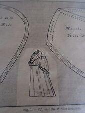 PATRON ORIGINAL POUR LA POUPEE BLEUETTE  ROBE D'INTERIEUR MARS 1910
