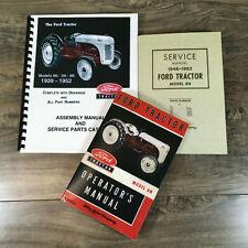 Ford 8n Tractor Service Repair Shop Manual Set Parts Catalog Operators Owners