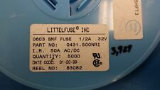 (10 PCS) 431.500 LITTELFUSE, FUSE 1/2 A 32V VERY FAST BLOW 0603 SMD