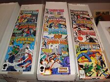 Spectacular Spider-Man #75-124 Marvel Comic Book Lot Of 11 Vf Condition 1983-87