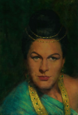 RENATA TEBALDI, SOPRANO - PORTRAIT BY ELIAS RIVERA  - ORIGINAL OIL PAINTING