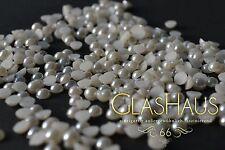 Hotfix Perlen, *weiss*/*perlmutt*, 3,4,5,6,7 und 8mm, Super Qualität