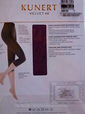 KUNERT Ladies VELVET 40, Capri Leggings semi-opaque, matt XS S M L XL XXL