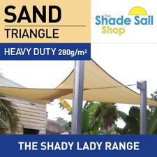Triangle SAND 3.6m x 3.6m x 3.6m Shade Sail Sun Heavy Duty 280GSM Outdoor SAND