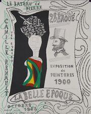 """""""La belle époque 1968"""" Lithographie signée Max PAPART"""