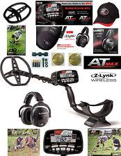 Garrett AT MAX Metal Detector, Wireless Headphones, Hat, Cover, Garrett Token!
