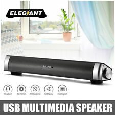 ELEGIANT USB Speaker System Multimedia Sound Bar For Laptop PC Desktop Computer