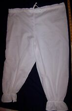 LADIES RAG RAGGY DOLL VICTORIAN COSTUME BLOOMERS PANTALOON WHITE RENAISSANCE