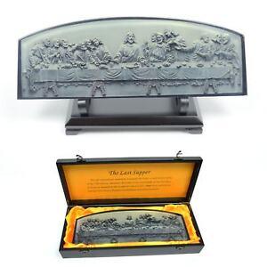 The Last Supper by Leonardo Da Vinci 3D Resin Glass Sculpture Decoration Gifts