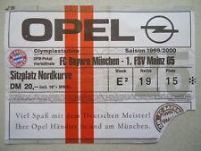 TICKET DFB Pokal 1999/00 FC Bayern München - FSV Mainz 05