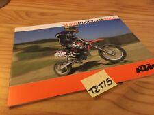KTM 2004 50 SX mini senior adventure pro junior LC  senior LC 65 85  prospectus