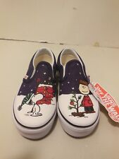 59f558353c0 VANS Classic Slip on Peanuts Charlie tree Toddler Shoes 5.5
