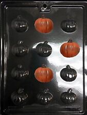 Bite-Sized Thanksgiving  Pumpkin Chocolate Candy Butter Plastic Mold LOP T-17