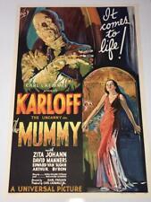 The Mummy One Sheet Movie Poster Lithograph Boris Karloff S2 Art