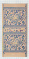 Ancienne étiquette Allumettes Royaume Uni BN82468 Domestic Horloge
