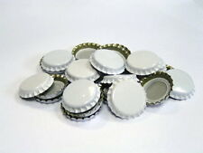 100 White Home Brew Bottle Crown Caps 26mm Very Good Seal Quality FAST DELIVERY