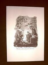 Litografia Natale Adorazione dei pastori Breviarum Romanum del 1835 Ristampa