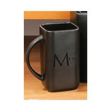 Black Text Mug Cup Tea Coffee Hot Chocolate Drinks Kitchen Ceramic Latte New