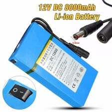 Portable DC 12V 8000mAh Rechargeable Li-ion Battery Pack For CCTV Camera Blue