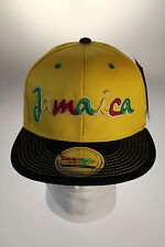 State Property Jamaica Yellow/Black Snapback Flat Peak Baseball Hat/Cap