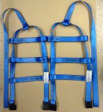 DEMCO Tiedown Straps Adjustable Tow Dolly Wheel Net Set Flat Hooks BLUE USA