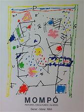 Mompo  Manuel Hernández Mompó Affiche Originale Litho art abstrait abstraction