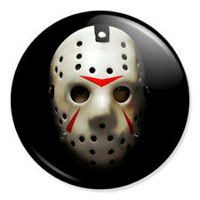 """Friday The 13th Mask 25mm 1"""" Pin Badge Button Jason Horror Film Retro Cult"""