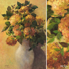 "28W""x42H"" HORTENSIES by J. RIPOLL - VASED FLOWER BOUQUET CANVAS"