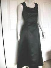 WMNS 4 LONG BLACK FORMAL SATIN SLEEVELESS DRESS TIE BACK by TUXEDO WHOLESALER