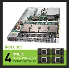 Supermicro SuperServer 1U 1029GQ-TXRT w/ 4x NVIDIA Pascal P100 GPU FTY Installed