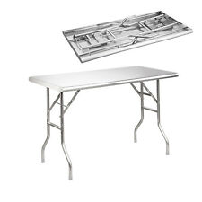 """Royal Gourmet Stainless Steel Foldable Work Table 48"""" L x 24"""" W PW2448S"""